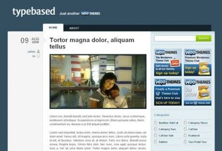 template wordpress typebased