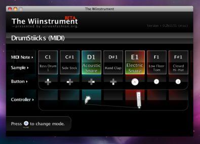 Wiinstrument screenshot