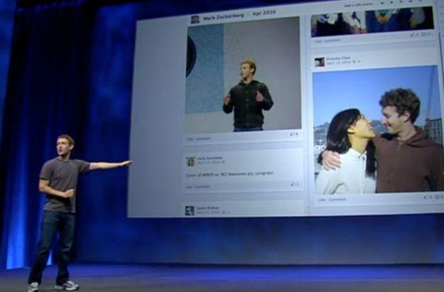 timeline facebook aperta