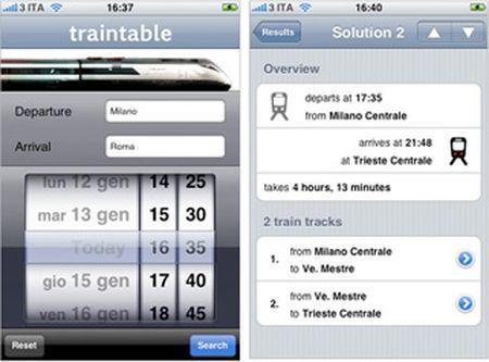 Controllare gli orari dei treni con l'iPhone