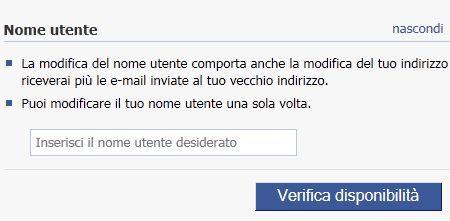 Trucchi per Facebook: come cambiare il nome utente