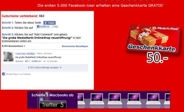 Nuova truffa su Facebook: attenti ai falsi buoni regalo da 50 euro