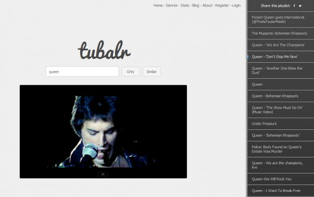 Usa Youtube come player musicale con Tubalr