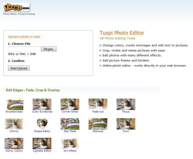 Creare fotomontaggi su internet con Tuxpi