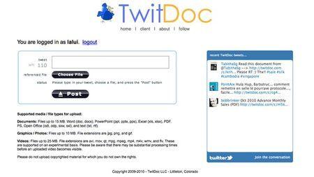 Condividere documenti su Twitter con TwitDoc