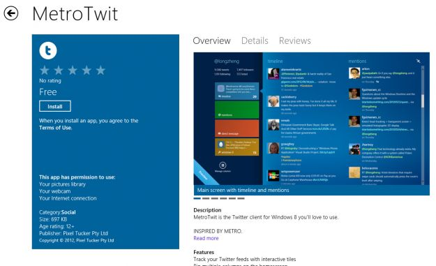 twitter app windows 8 metrotwit