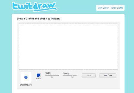 Condividere disegni su Twitter con TwitDraw