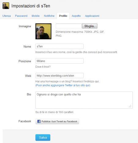 Anche Twitter in italiano attiva la condivisione su Facebook