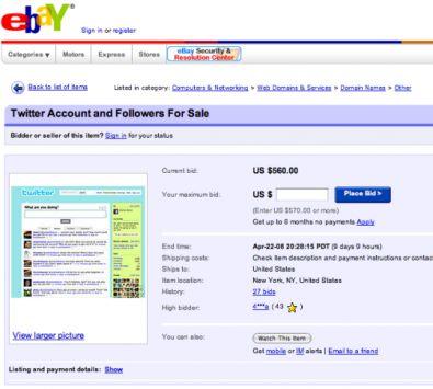 Baron cancella l'asta Ebay in cui vendeva il suo account Twitter