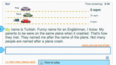 typeracer screenshot