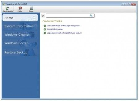 Velocizzare Windows 7 con TweakNow WinSecret 2010