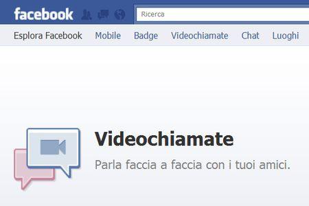 videochiamata facebook