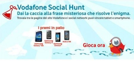 vodafone social hunt home