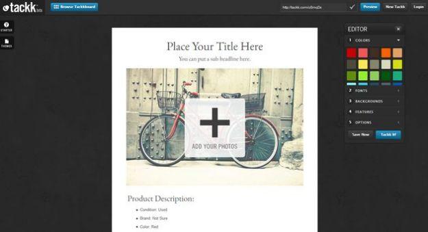 Volantini online: creare una pagina pubblicitaria da condividere con Tackk