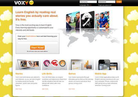 Imparare l'inglese online con Voxy
