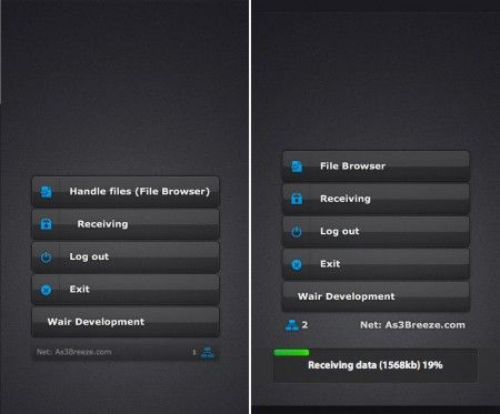 Trasferimento file tra device e desktop con Wair