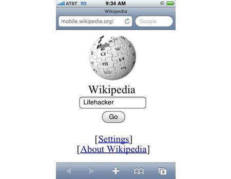 Wikipedia mobile per cellulari