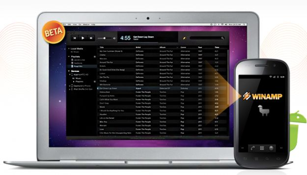 Download di Winamp e utilizzo del player su Mac