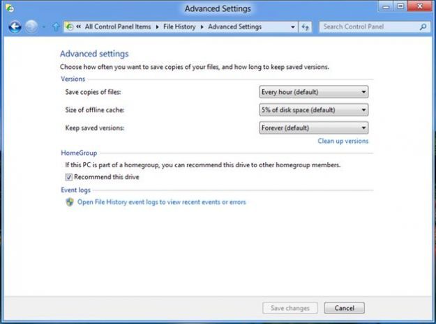 Windows 8, il backup si effettua con File History