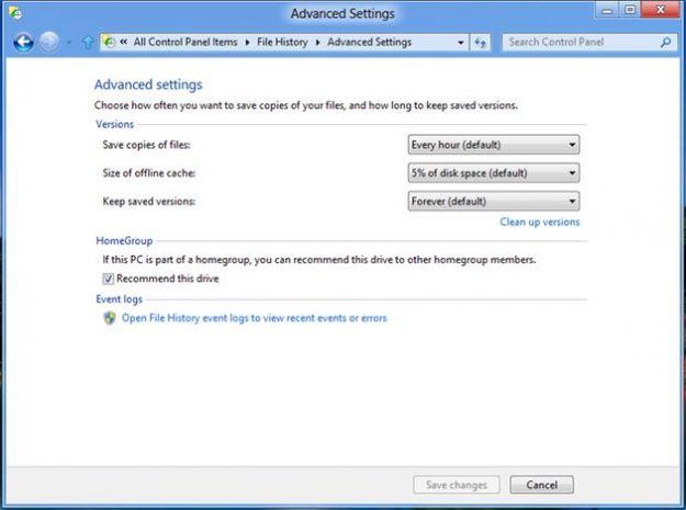 windows 8 backup file history