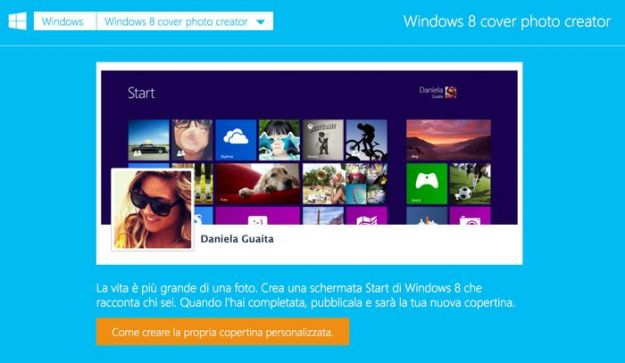 Copertine Facebook: creare immagini ispirate a Windows 8 con Cover Photo Creator