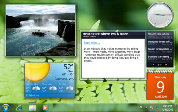 windows 8 gadget desktop