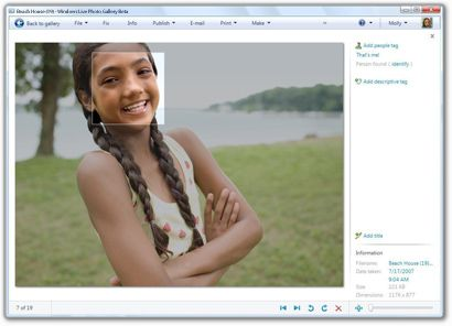 Windows Live Photo Gallery Riconoscimento Facciale