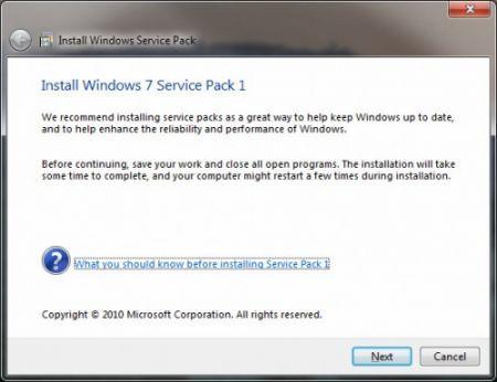 Windows 7: Service Pack 1 pronto al rilascio