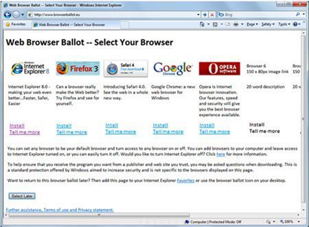 Windows Ballot Screen