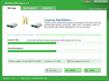 Ottimizzare Windows: velocizzare copia e spostamento con WinMend File Copy