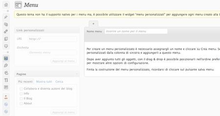 wordpress tutorial menu personalizzato