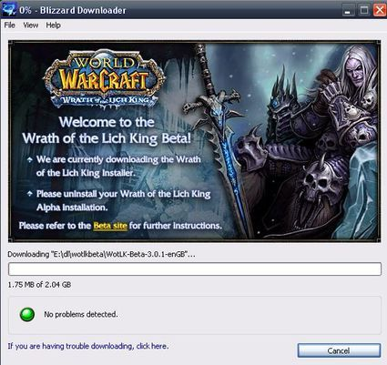 wrath of the lich king beta screenshot