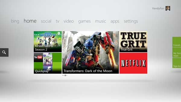Nuova dashboard per Xbox 360 dal 6 Dicembre