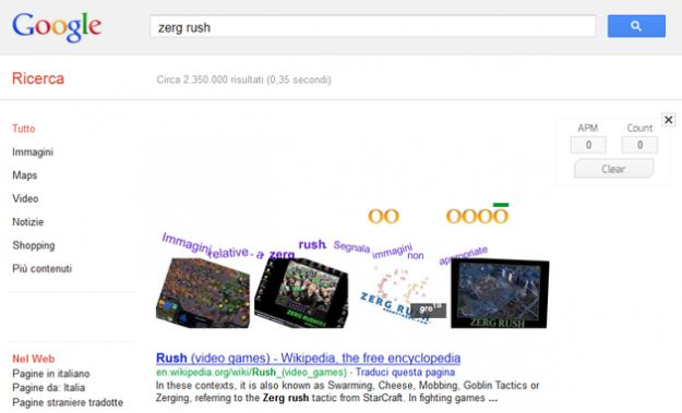 Con Zerg Rush Google diventa un gioco