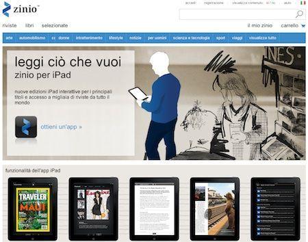 Zinio: riviste elettroniche per iPad, iPhone, Mac e PC