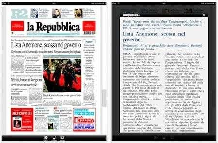 La Repubblica arriva su iPad
