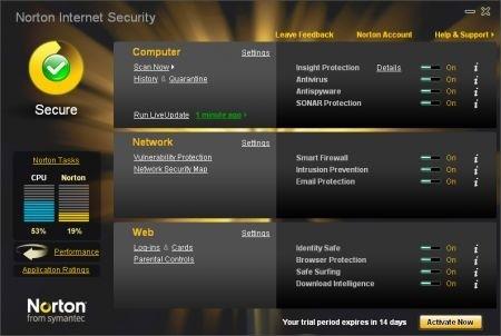 Antivirus migliore: Norton 2010 by Symantec