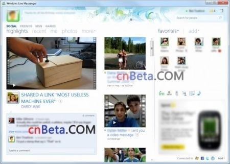 Windows Live Messenger: screenshot sulla versione 2010