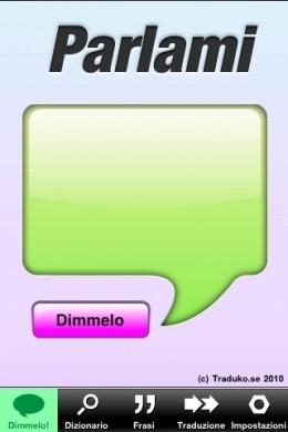 Parlami dizionario iPhone: dimmelo