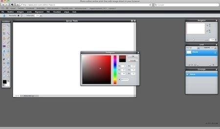 Pixlr - selezione colore