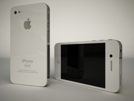 iPhone 4G bianco - render
