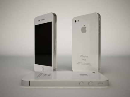 iPhone 4G bianco - render completo
