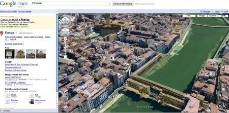 Google Earth via Google Maps - Firenze
