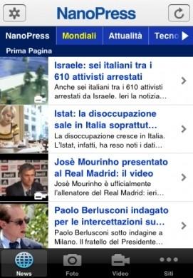 Nanopress: su Apple iPhone le news sui Mondiali di Calcio