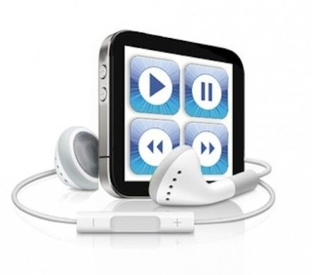 Ipotetico iPod shuffle con schermo multitouch