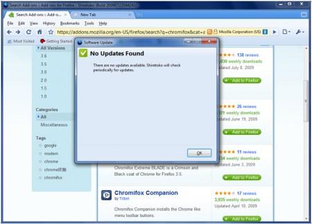 Temi Firefox: Chromifox update