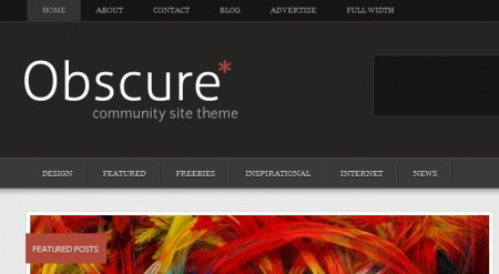 Template per WordPress Obscure: header