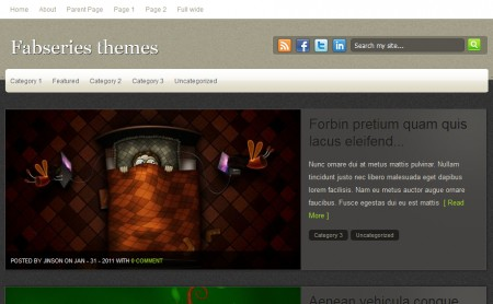 Template Wordpress Elessa: home