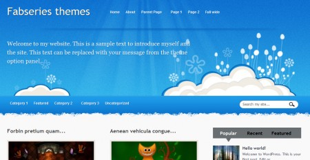 Temi gratis per WordPress Iris: home