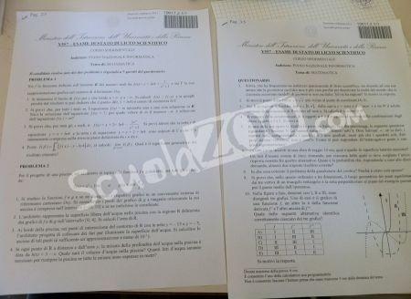 Seconda prova maturità 2011 matematica PNI